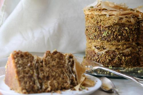 Торт с пахлавой