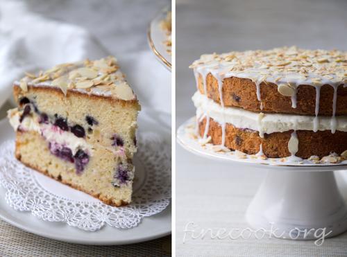 Торт с голубикой и лимонным курдом